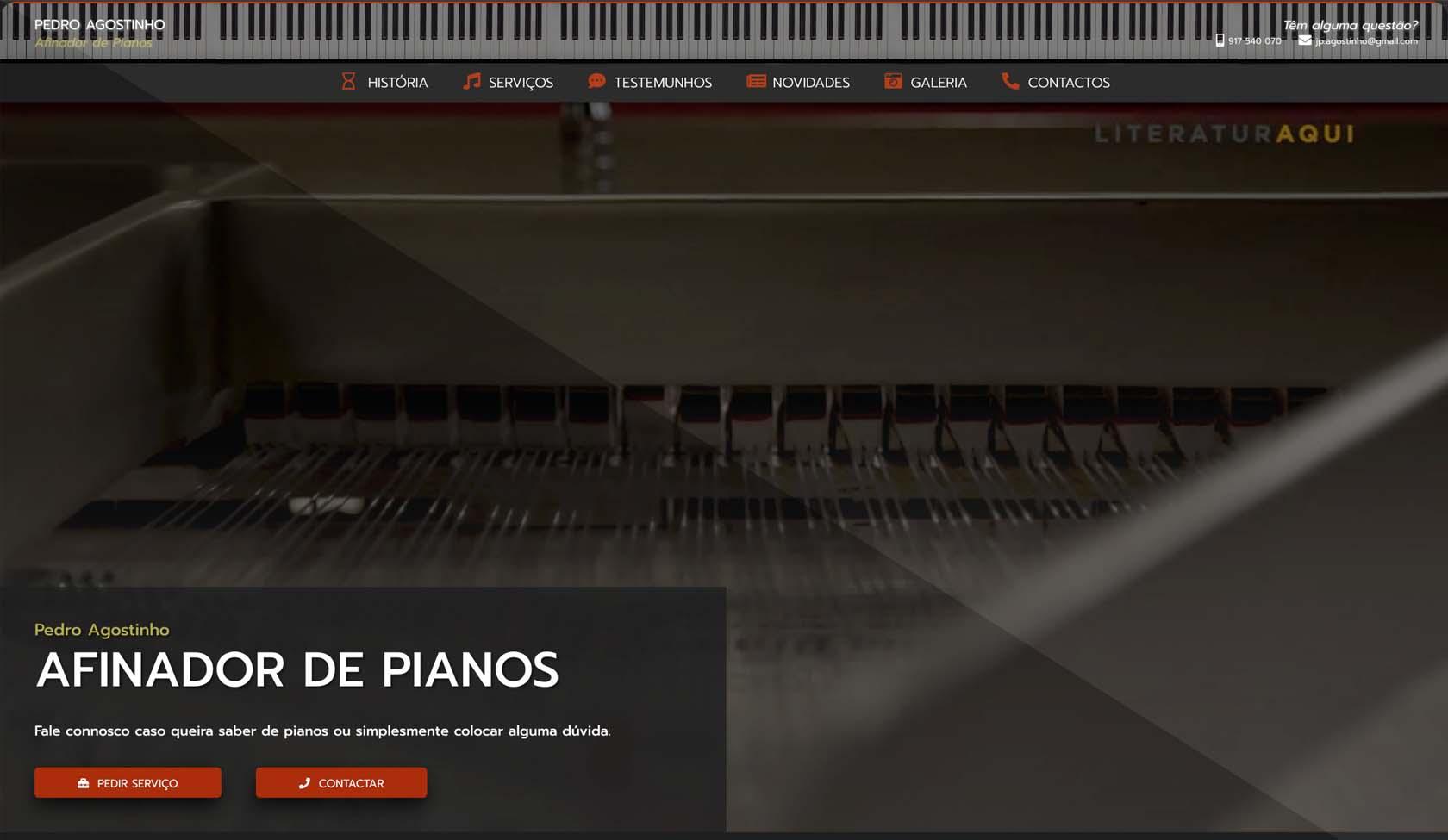 Pedro Agostinho Afinador de Pianos