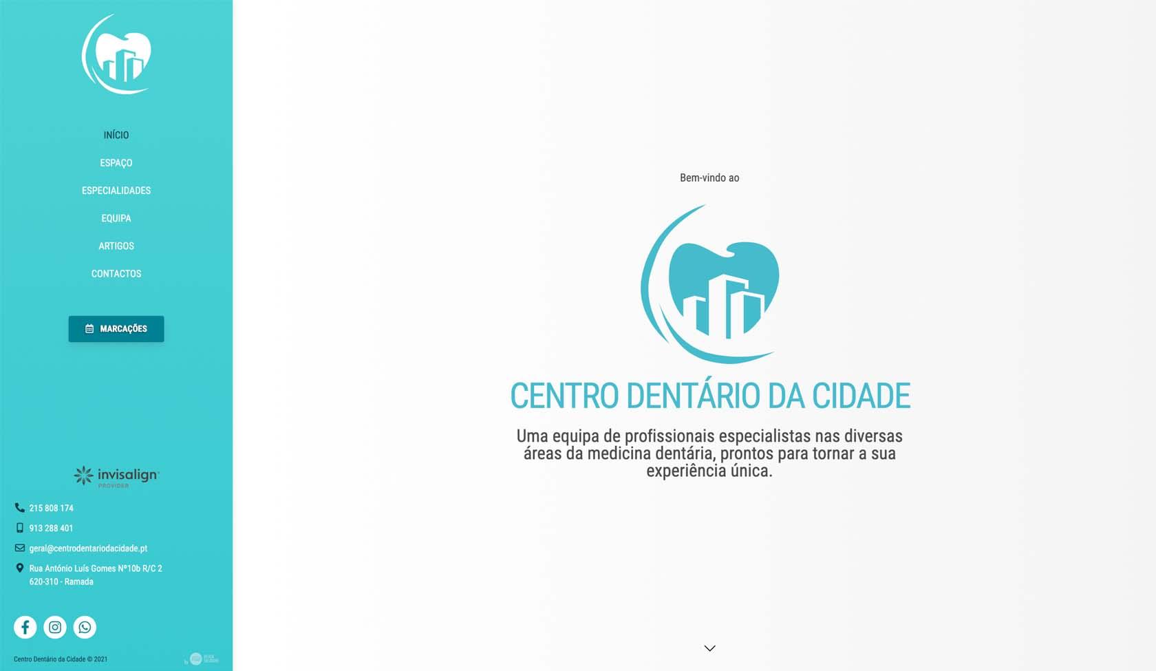 Website Centro Dentário da Cidade