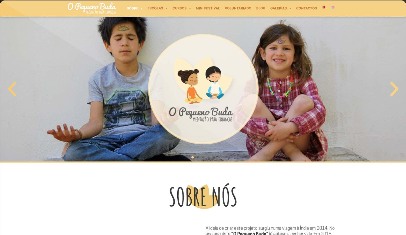 website O Pequeno Buda