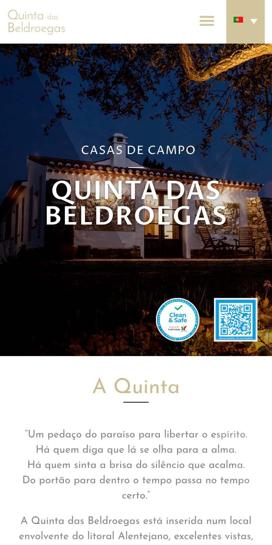 website Quinta das Beldroegas - Casas de Campo