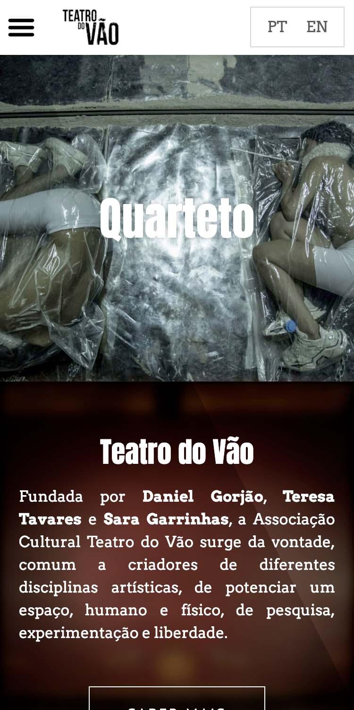 website Teatro do Vão