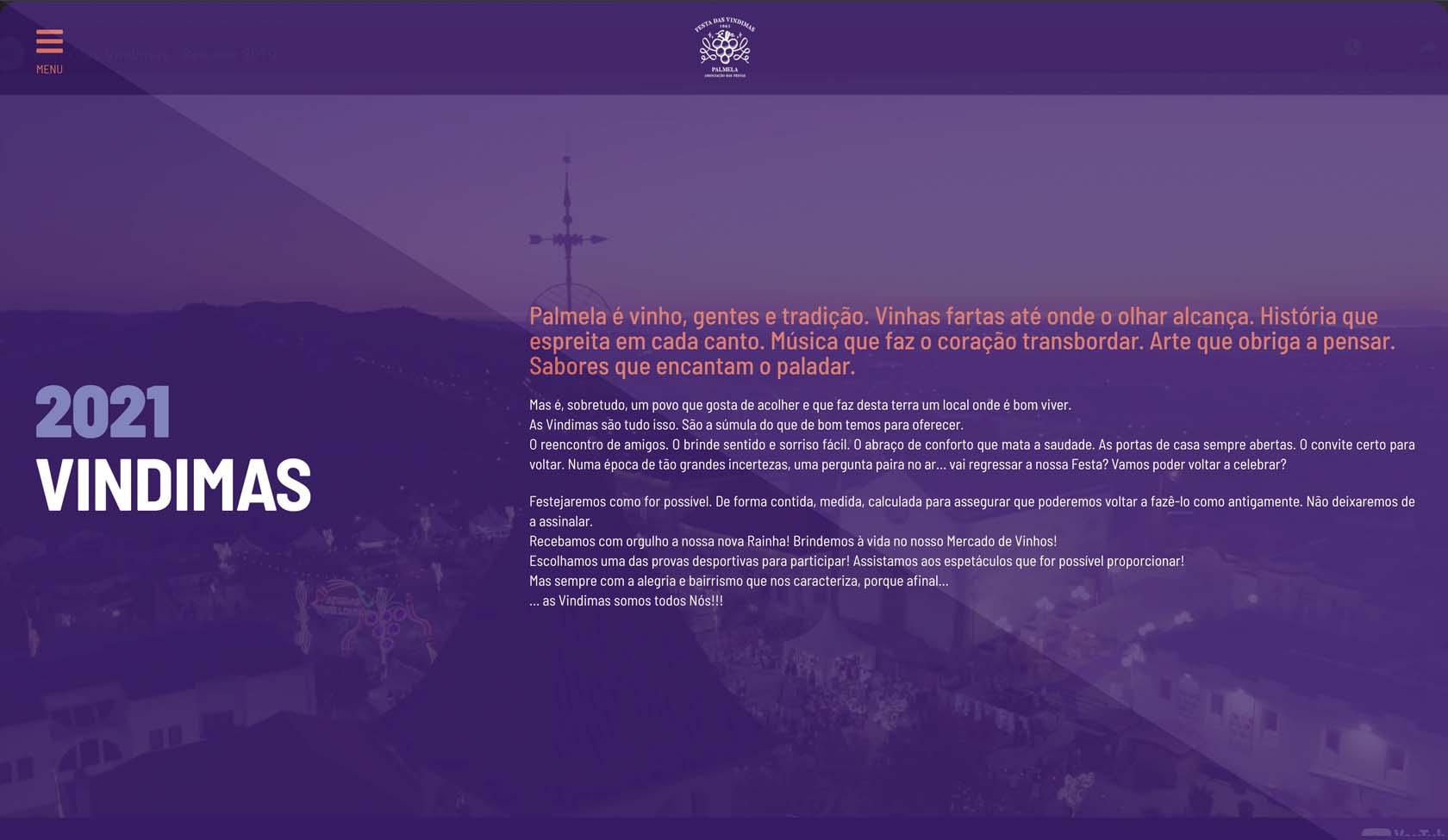 website Festa das Vindimas