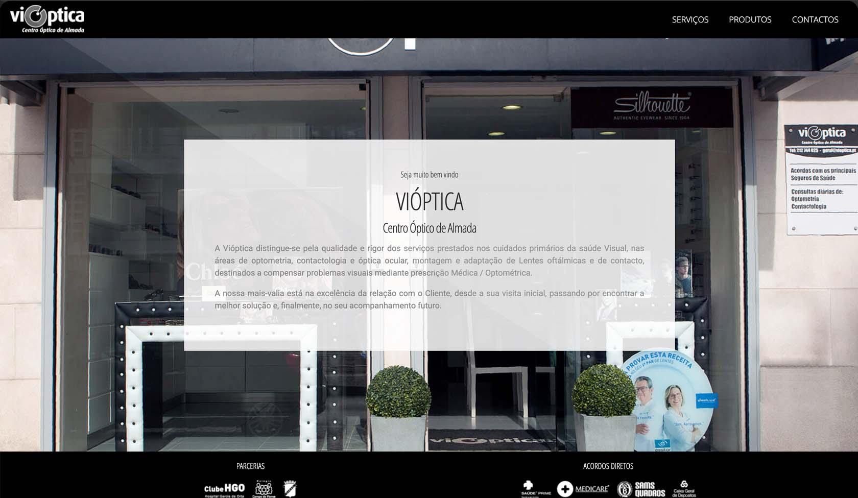 website Vioptica de Almada